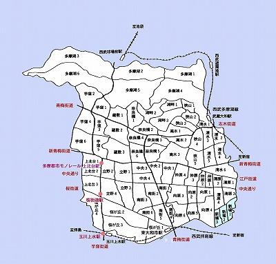 東大和市町名図新堀地域