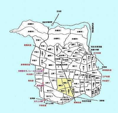 東大和市町名図南街