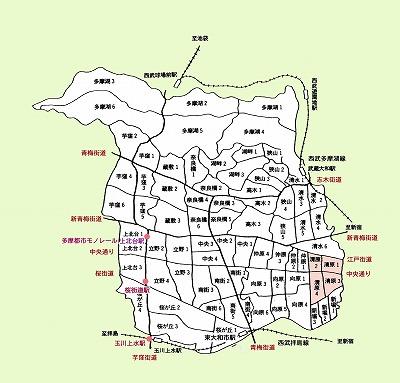 東大和市町名図清原地域