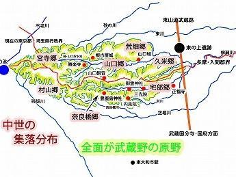 谷ッに散在する集落(東大和市の中世2)