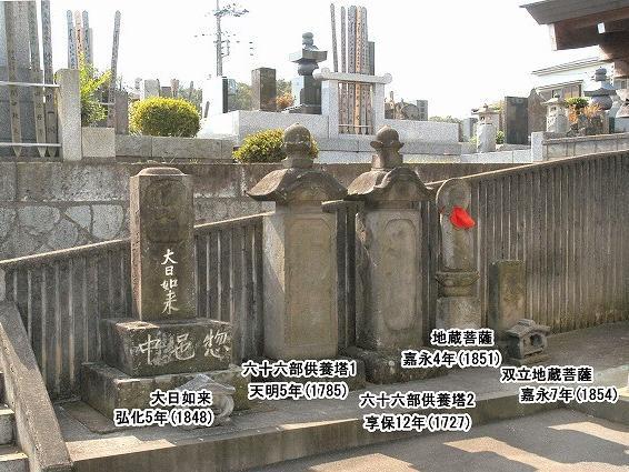 霊性庵の石造物2(正面石段上)