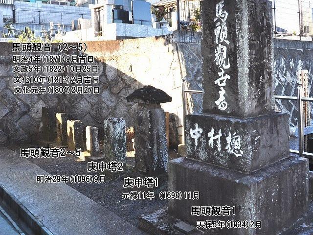 霊性庵の石造物3(観音堂北側)