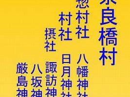 二つの神社に属する摂社(東京都東大和市)
