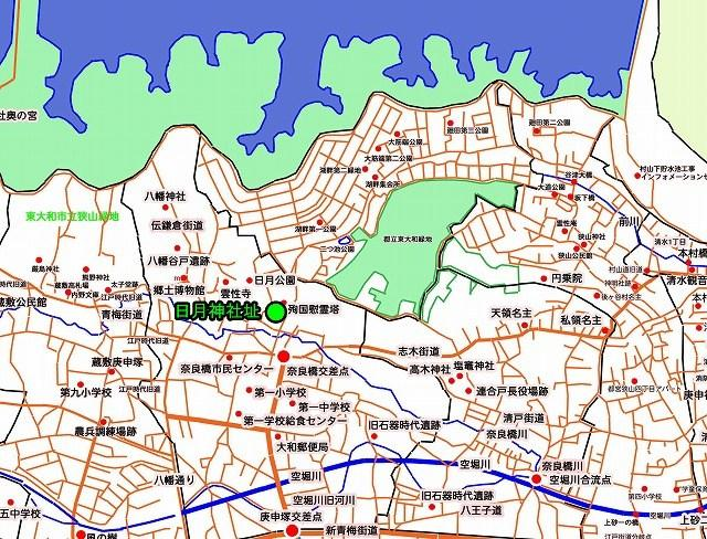日月神社跡(東京都東大和市)