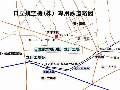専用鉄道の設置(現・西武拝島線の一部)