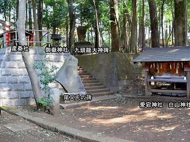 豊鹿島神社の境内社3 社殿右下側