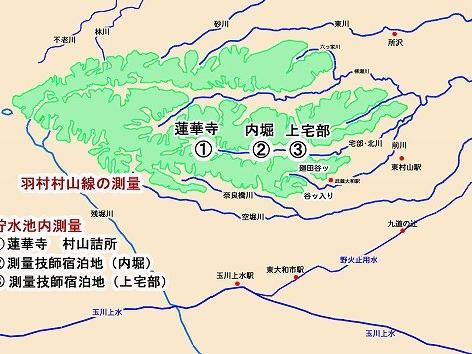 村山貯水池の建設(測量)