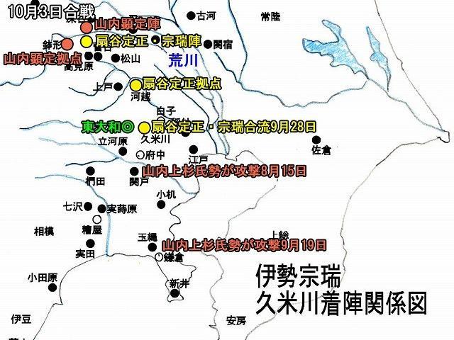 大まかな歴史の流れ 4 中世  3伊勢宗瑞・氏綱~武蔵制覇