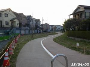 素敵な埋立て遊歩道が完成