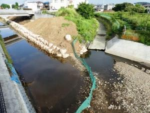 水の流れが消えた旧空堀川