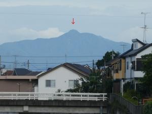 西に聳える奥多摩の山