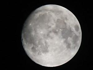 名月の少し前のお月さん