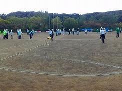 地域安全推進の運動にゲートボール協会も参加