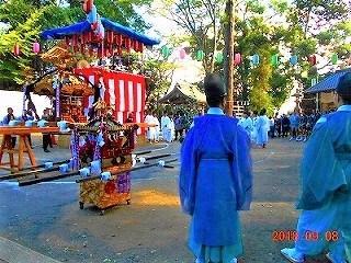 芋窪地区鎮守の豊鹿島神社例大祭