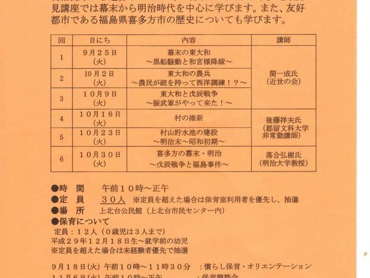 市内活動団体の紹介(あなたも歴史家 東大和の歴史を知ろう!)