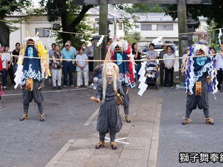 高木神社獅子舞奉納
