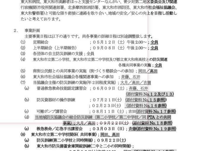 南街・桜が丘地域防災協議会平成30年度総会の開催報告