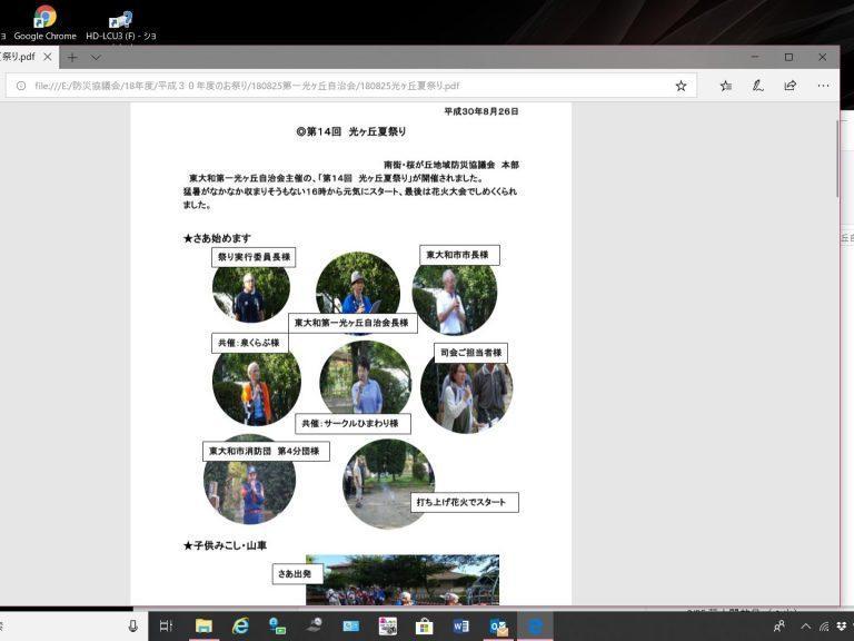 第14回東大和第一光ヶ丘自治会夏祭り開催報告