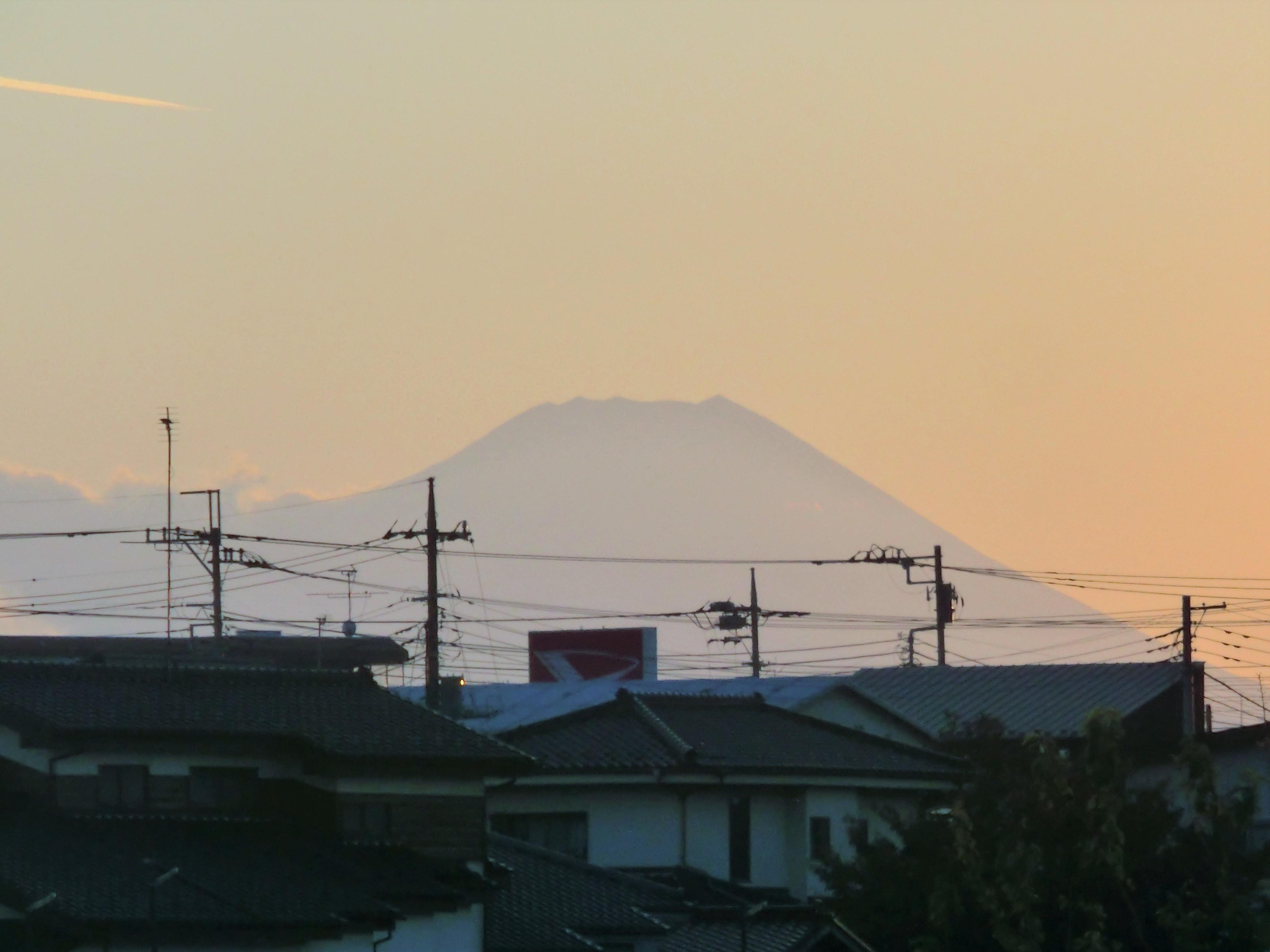 空堀川から見える富士山!