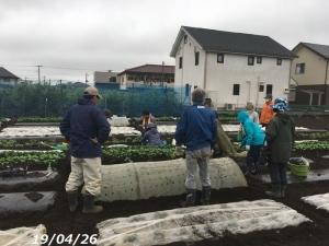 20分で雨止みます!農園講習