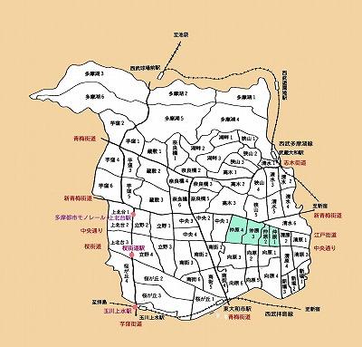 東大和市町名仲原地域