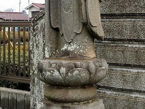 丸彫地蔵尊(東大和市庚申墓地)
